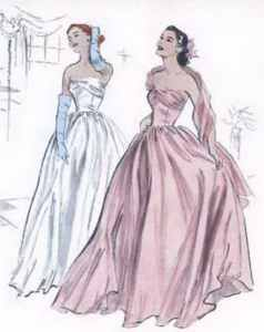 misses 1952 formal evening gown historical reproduction roleplaying clothing costume