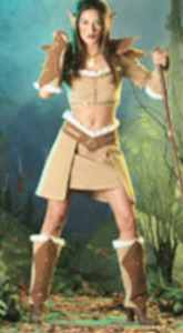 misses warrior princess roleplaying fantasy costume