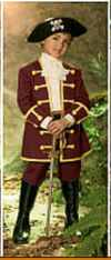 boy pirate captain historical roleplaying halloween fantasy costume