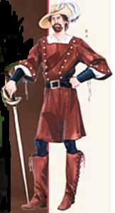 1700 cavalier men historical roleplaying costume clothing