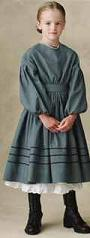 civil war dress girl historical roleplaying costume