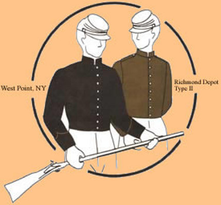american civil war shell jacket mounted historical uniform roleplaying costume