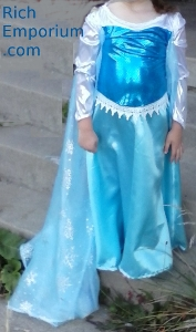 elsa frozen roleplaying costume for children