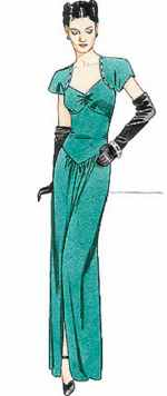 miss vintage 1930 evening dress historical roleplaying costume