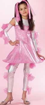 girls funky spacechick roleplaying halloween costume