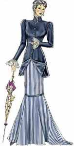 miss gay nineties walking dress historical roleplaying fantasy costume clothing