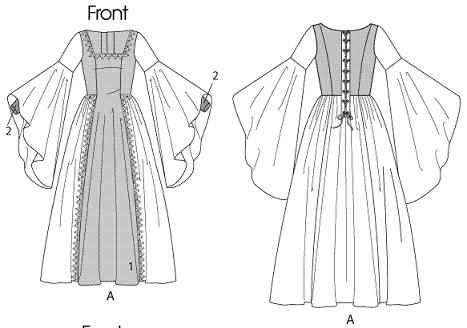 girls renaissance princess gown historical costume