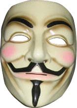 guy fawkes v for vendetta mask roleplaying costume