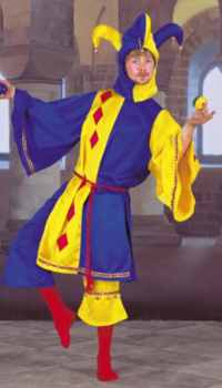 mens medieval jester historial roleplaying fantasy costume