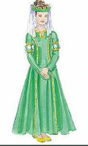 girl child medieval princess roleplaying fantasy costume halloween