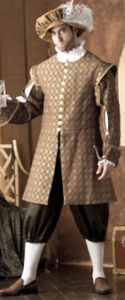 mens renaissance courtier historical roleplaying reproduction costume