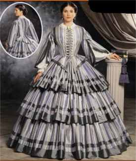 miss civil war daydress historical roleplaying fantasy costume