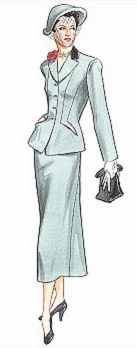 miss 1952 suit historical roleplaying costume
