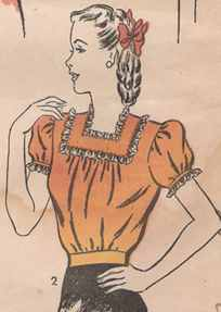miss blouse 1942 historical roleplaying costume
