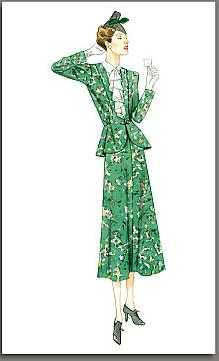 misses 1938 jacket dress historical roleplaying costume