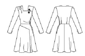 misses womens juniors 1946 day dress historical roleplaying costume front and back