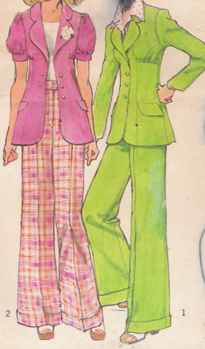 miss pants suit 1972 historical roleplaying costume