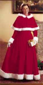 mrs clause roleplaying fantasy costume