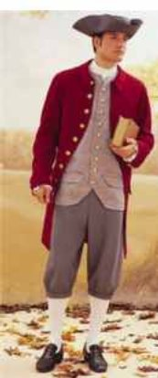 mens paul revere revolutionary war colonial suit historical roleplaying patriot costume