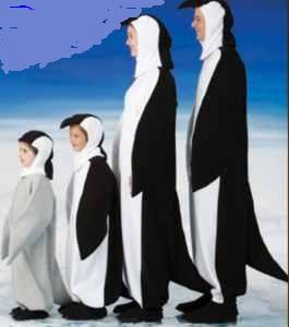 penguin family child adult roleplaying fantasy animal halloween costume