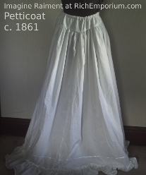 Petticoat Civil war era Historical underwear