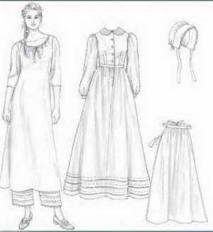 miss colonial settler historical roleplaying costume