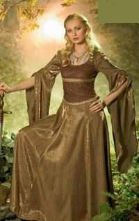 Medieval shield maiden costume