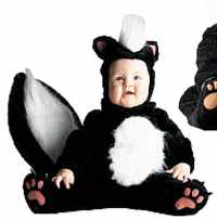 infant toddler skunk roleplaying fantasy costume