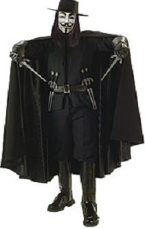 v for vendetta cape roleplaying costume