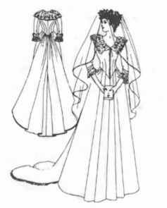 wedding gown 1885 historical roleplaying costume