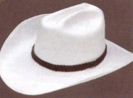 Straw cowboy hat historical roleplaying costume