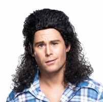 wig mullet adult roleplaying fantasy halloween costume