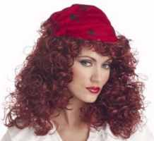 pirate girl wig historical roleplaying fantasy costume accesory