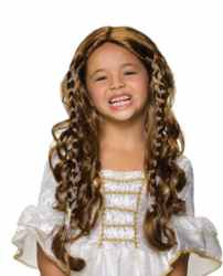 princess wig girl child roleplaying fantasy halloween costume